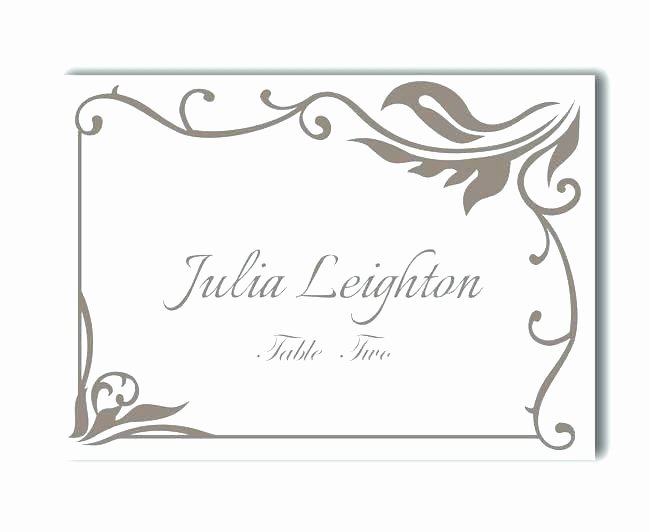 Wedding Name Cards Template Luxury Instant Download Print at Home Place Cards Template
