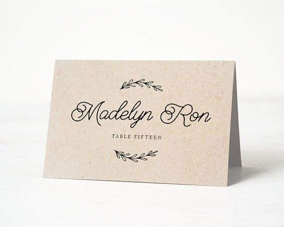 Wedding Name Cards Template Luxury Printable Place Card Template Printable Place Card