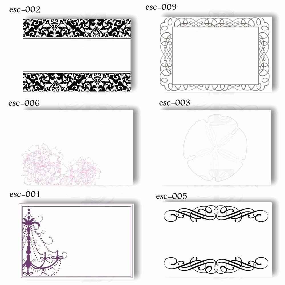 Wedding Name Cards Template New Name Card Template