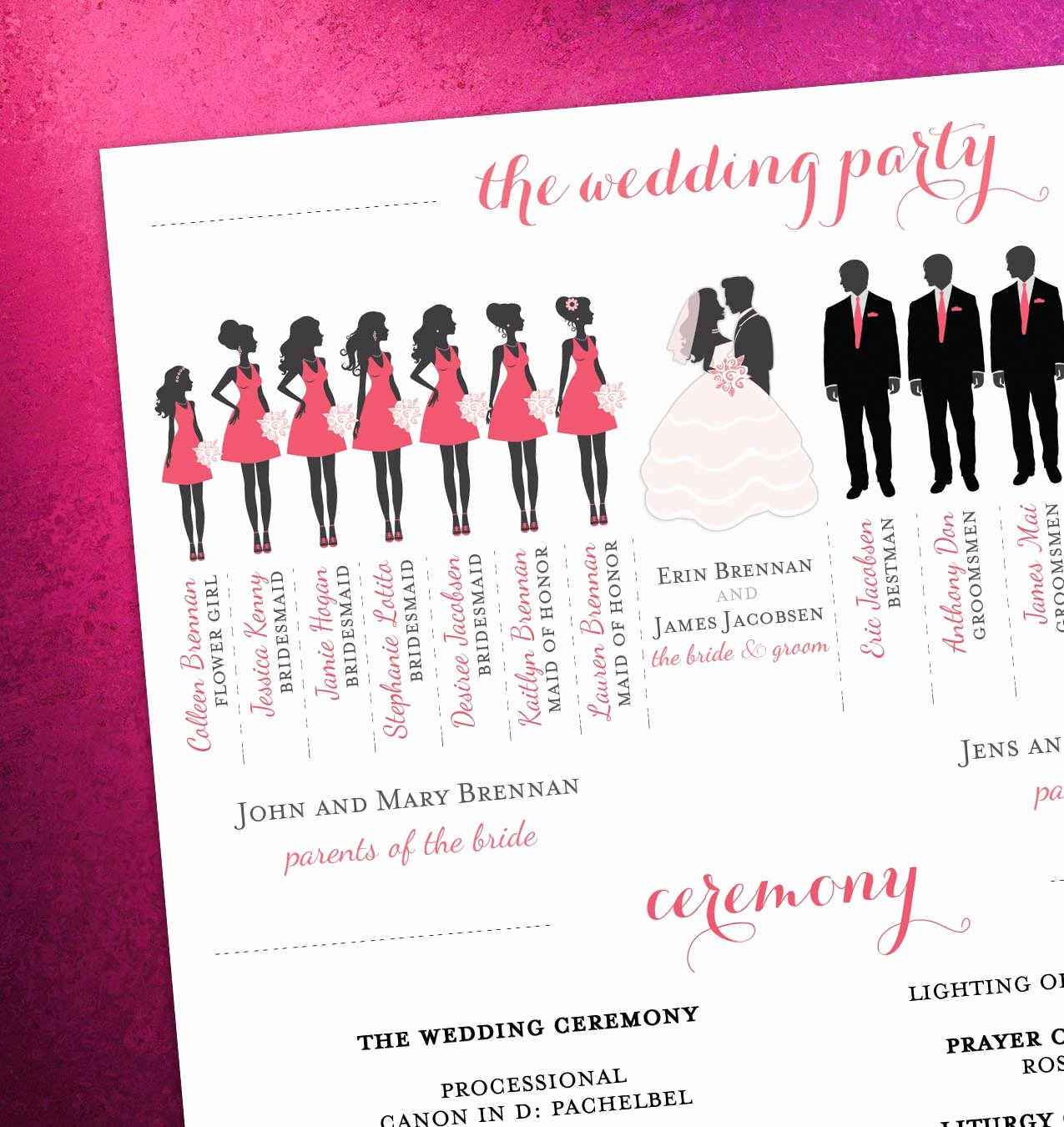 Wedding Party Lineup Template Beautiful Wedding Party Silhouette Clip Art – 101 Clip Art