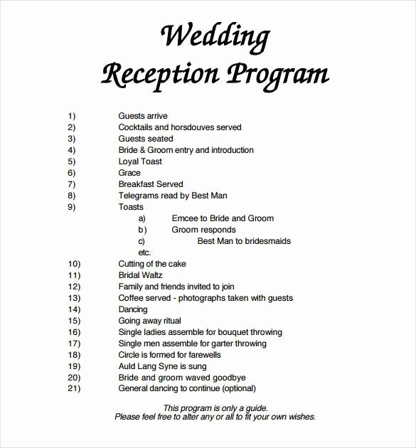 Wedding Party Lineup Template Lovely 67 Wedding Program Template Free Word Pdf Psd