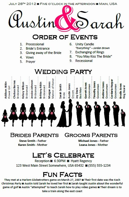 Wedding Party Lineup Template Lovely Pinterest • the World's Catalog Of Ideas