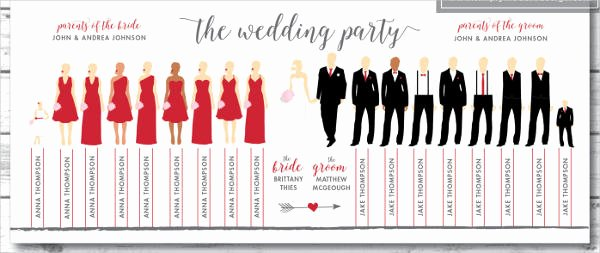Wedding Party Lineup Template New 8 Wedding Party Program Templates Psd Vector Eps Ai