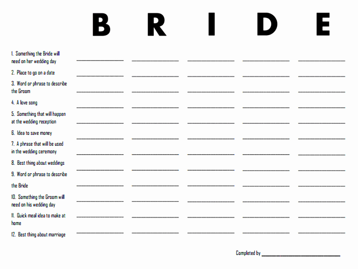 Wedding Party List Template Luxury Bridal Party List Template Certificate Layout Template
