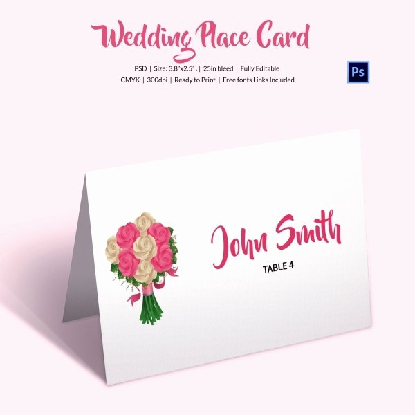 Wedding Place Card Template Best Of 25 Wedding Place Card Templates