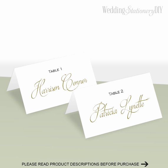Wedding Place Card Template Best Of Simple Elegance Place Card Template Place Cards Wedding Diy