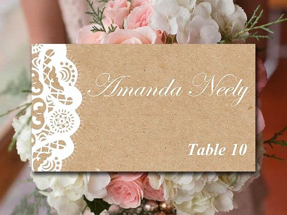 Wedding Place Card Template Fresh 25 Best Ideas About Place Card Template On Pinterest