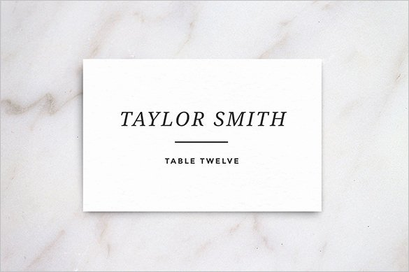Wedding Place Card Template Fresh Name Card Templates – 18 Free Printable Word Pdf Psd