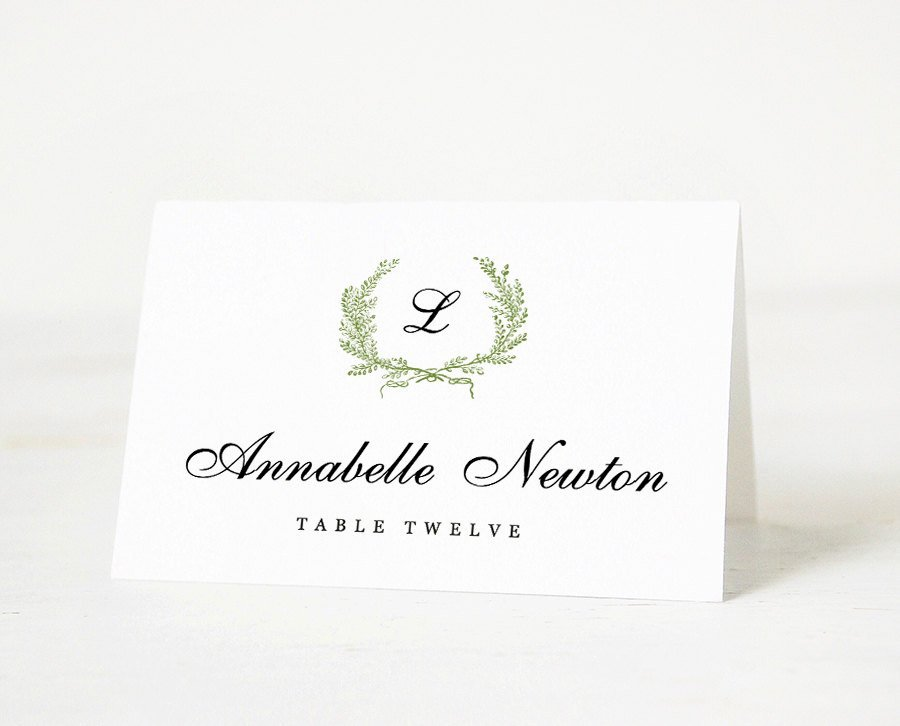 Wedding Place Card Template Fresh Printable Place Card Template Wedding Place Card Name Tags