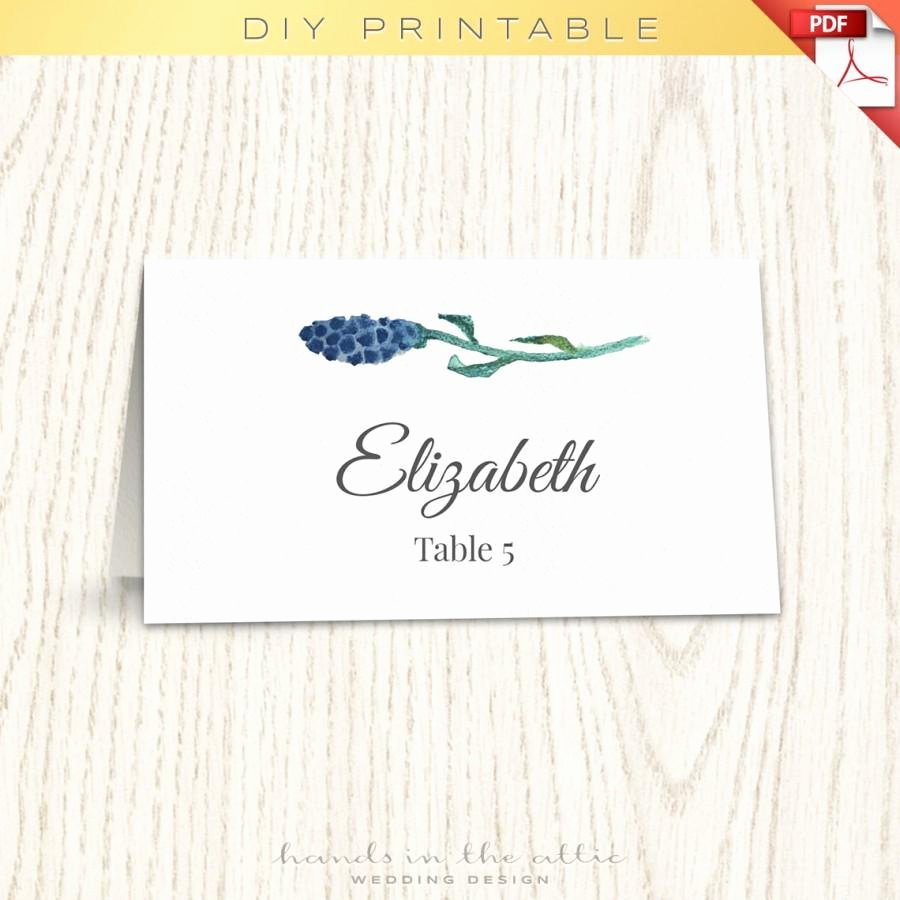 Wedding Place Card Template Lovely Floral Wedding Placecard Template Printable Escort Cards