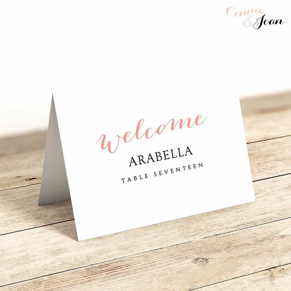 Wedding Place Card Template Luxury Rustic Printable Wedding Table Numbers Template Connie