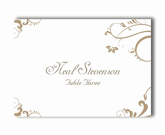 Wedding Place Card Template New Place Cards Wedding Place Card Template Diy Editable