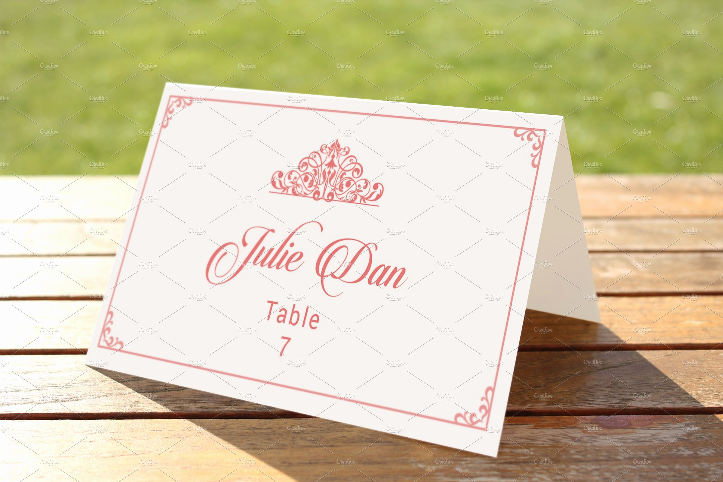 Wedding Place Card Template Unique Wedding Place Card Template Card Templates Creative Market