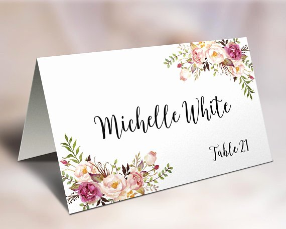 Wedding Place Cards Template Lovely Wedding Place Cards Place Card Template Editable Reserved