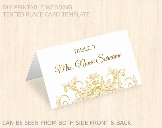 Wedding Place Cards Template Luxury Printable Wedding Place Card Templatename Place Cardeditable