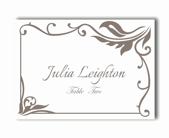 Wedding Place Cards Template New Place Cards Wedding Place Card Template Diy Editable