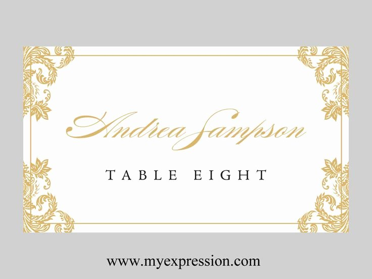 Wedding Place Cards Template New Wedding Place Cards Template Folded – Gold Damask