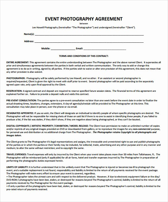 Wedding Planner Contract Template Elegant 19 event Contract Templates to Download for Free