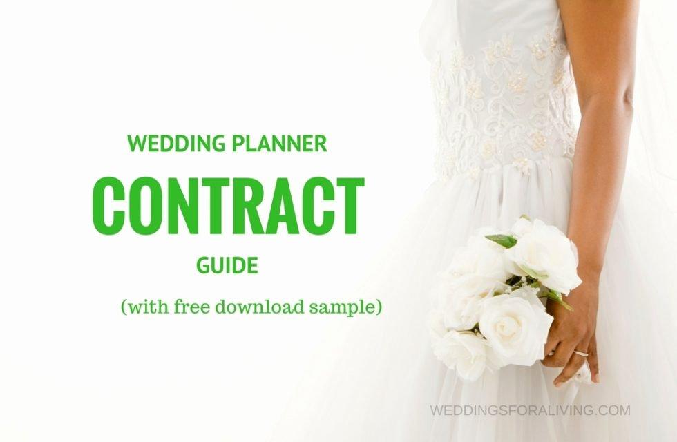 Wedding Planner Contract Template Elegant Free Sample Wedding Planner Contract