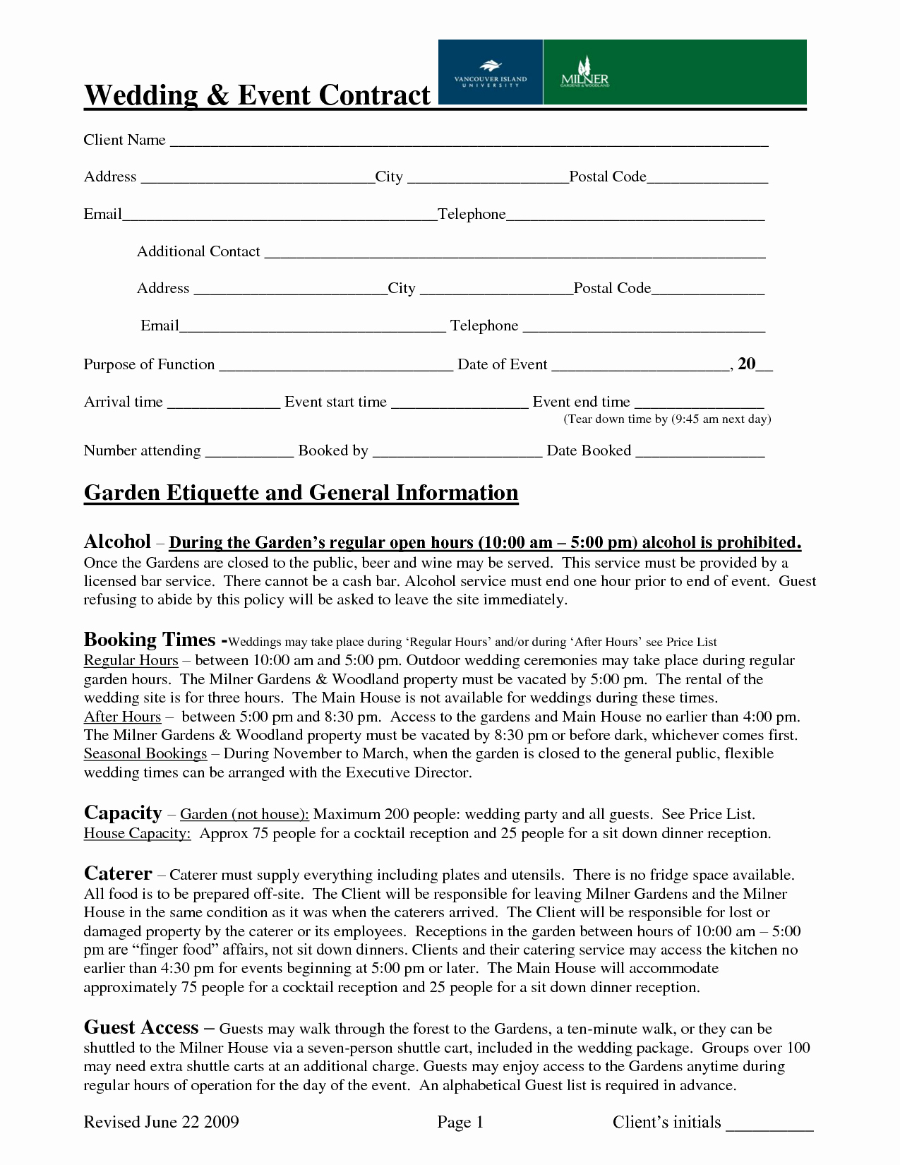 Wedding Planner Contract Template Elegant Wedding event Contract Sample Contract