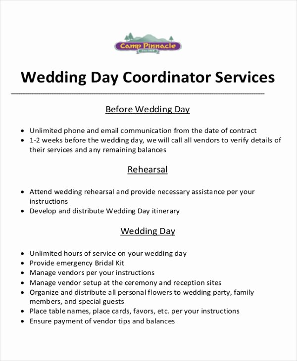 Wedding Planner Contract Template New event Planner Contract Sample 6 Examples In Word Pdf