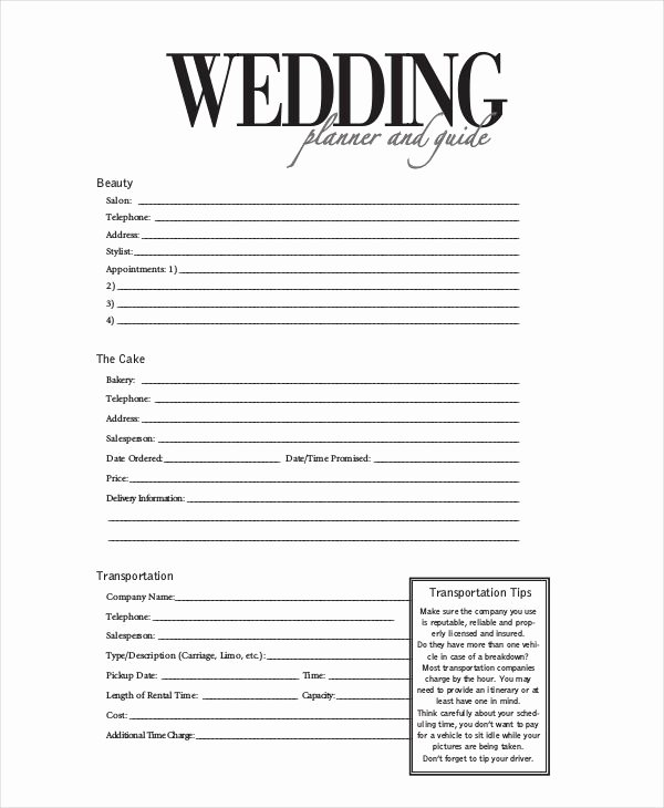 Wedding Planner Contract Template Unique the 13 Best Wedding Planning forms Images On Pinterest
