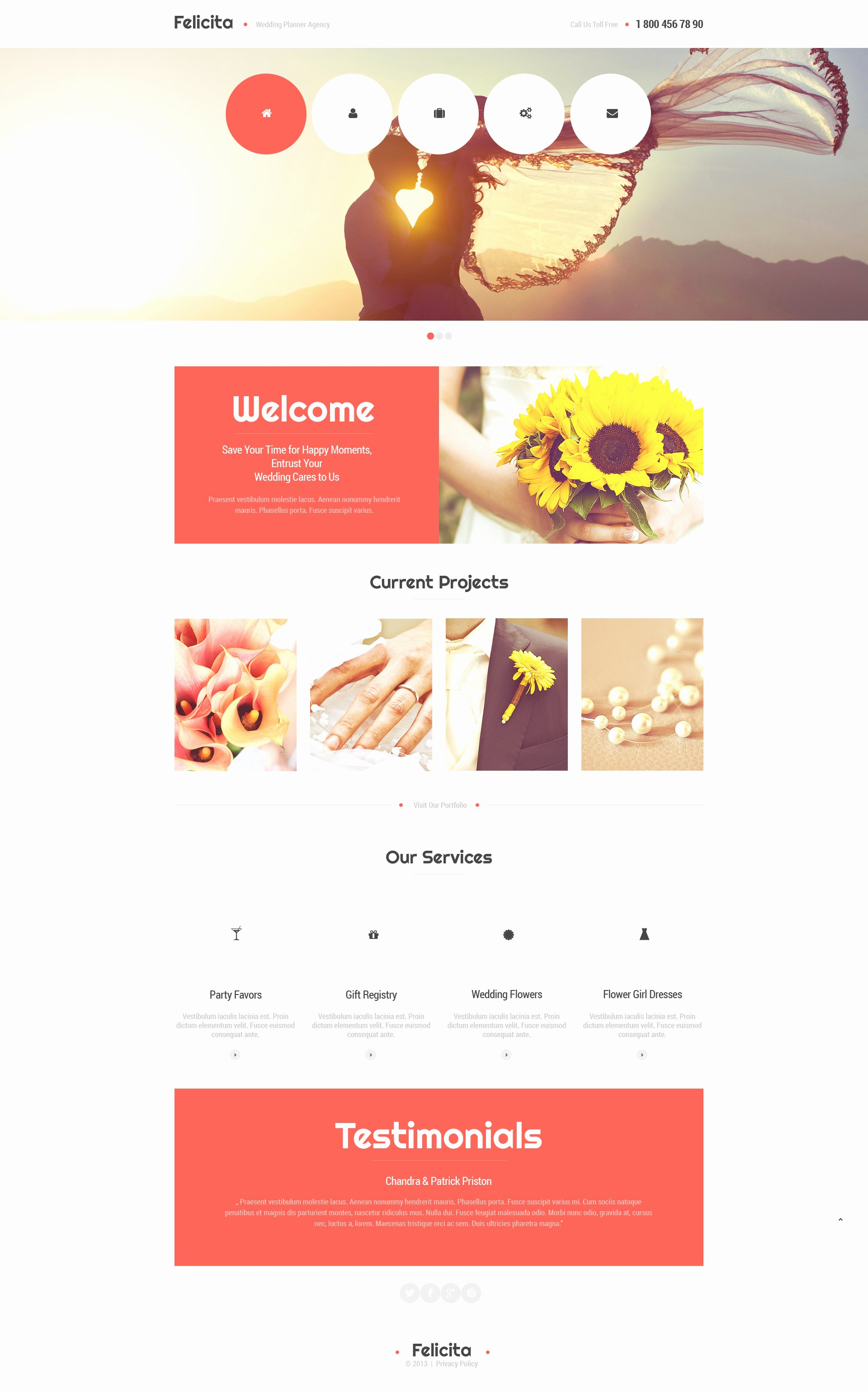 Wedding Planner Website Template Awesome Wedding Planner Responsive Website Template