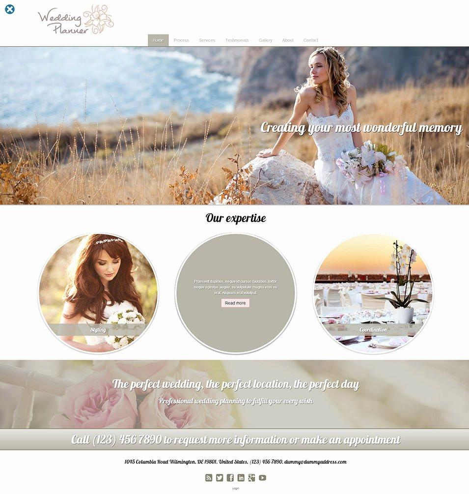 Wedding Planner Website Template Best Of 15 Best Wedding event Planner Website Templates