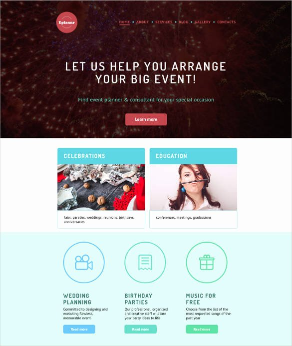Wedding Planner Website Template Elegant 21 event Website themes & Templates