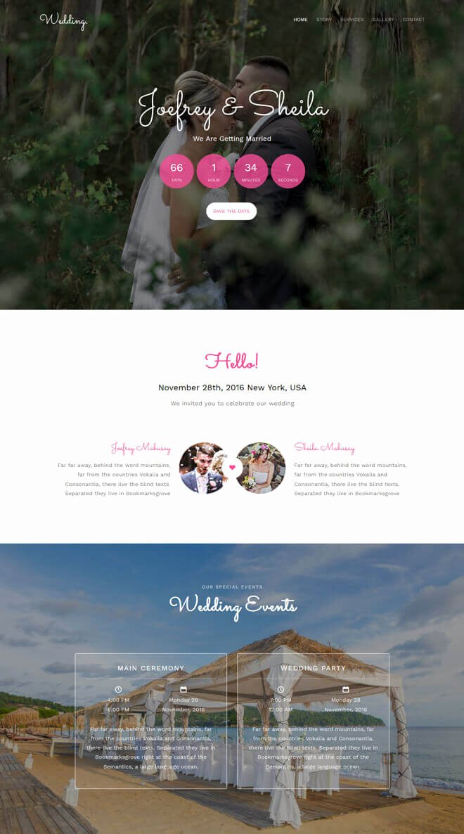 Wedding Planner Website Template Inspirational Free event Bootstrap Template List Of Best Quality HTML5