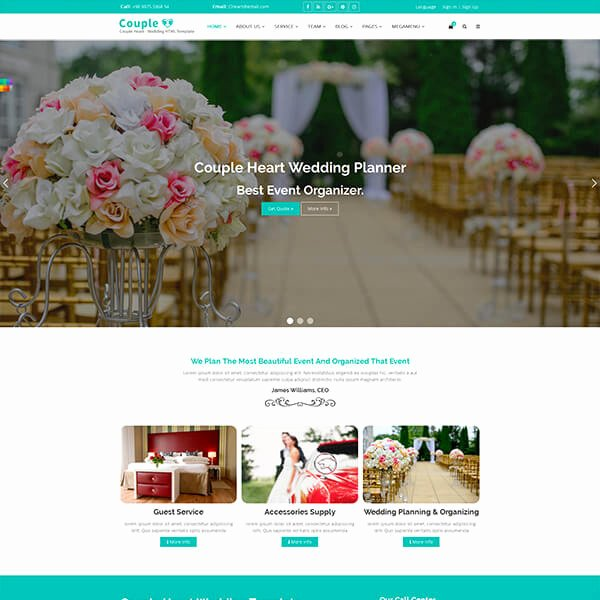 Wedding Planner Website Template Lovely 10 Best Responsive Website Templates for Wedding and