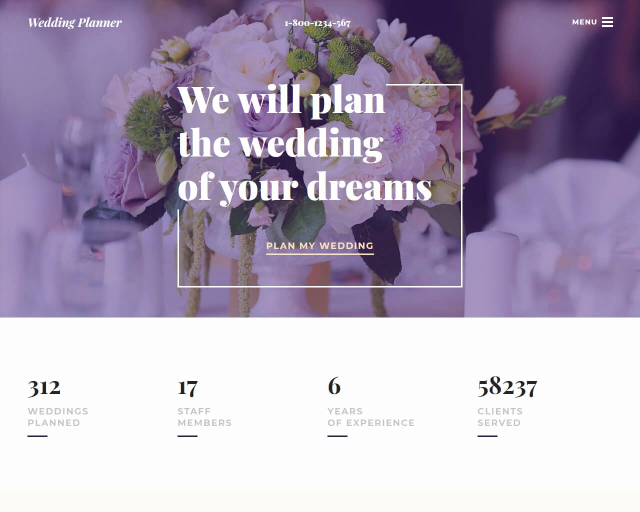 Wedding Planner Website Template New 20 Best Wedding Website Templates for Your Special Day 2018