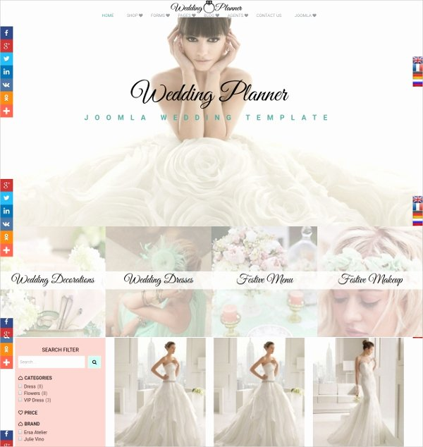 Wedding Planner Website Template Unique 19 Wedding Website themes & Templates