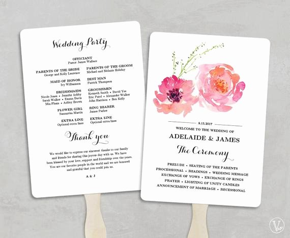 Wedding Program Fans Template Awesome Printable Wedding Program Fan Template Wedding Fans Diy