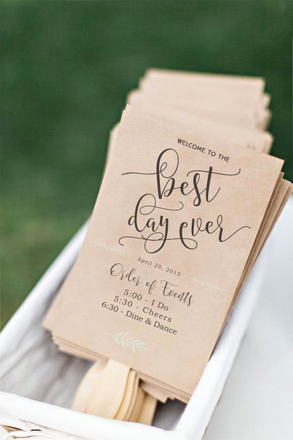 Wedding Program Fans Template Best Of Cortesie Per Gli Ospiti Fai Da Te