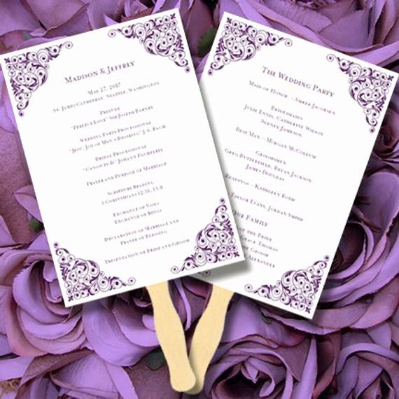 Wedding Program Fans Template Best Of Printable Wedding Program Fan Template by Weddingtemplates