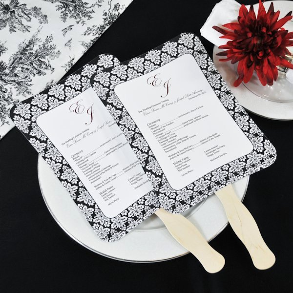 Wedding Program Fans Template Elegant Diy Wedding Program Fans Kit with Design Template