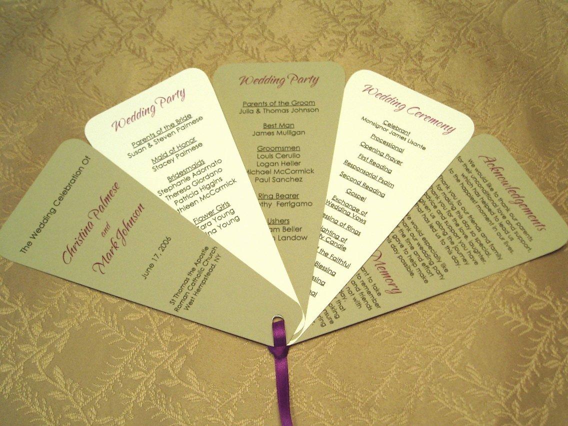 Wedding Program Fans Template Elegant Jany Claire Favors and Fans