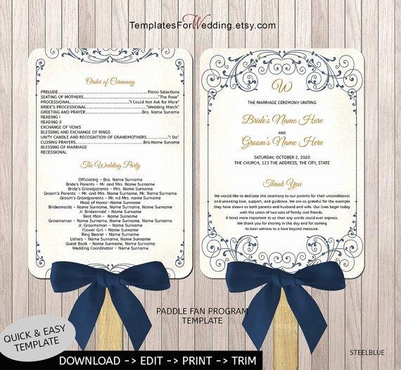 Wedding Program Fans Template Inspirational 40 Best Images About Wedding Program Fans On Pinterest