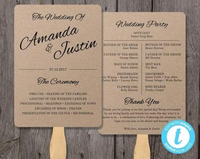 Wedding Program Fans Template Inspirational Best 25 Wedding Program Templates Ideas On Pinterest