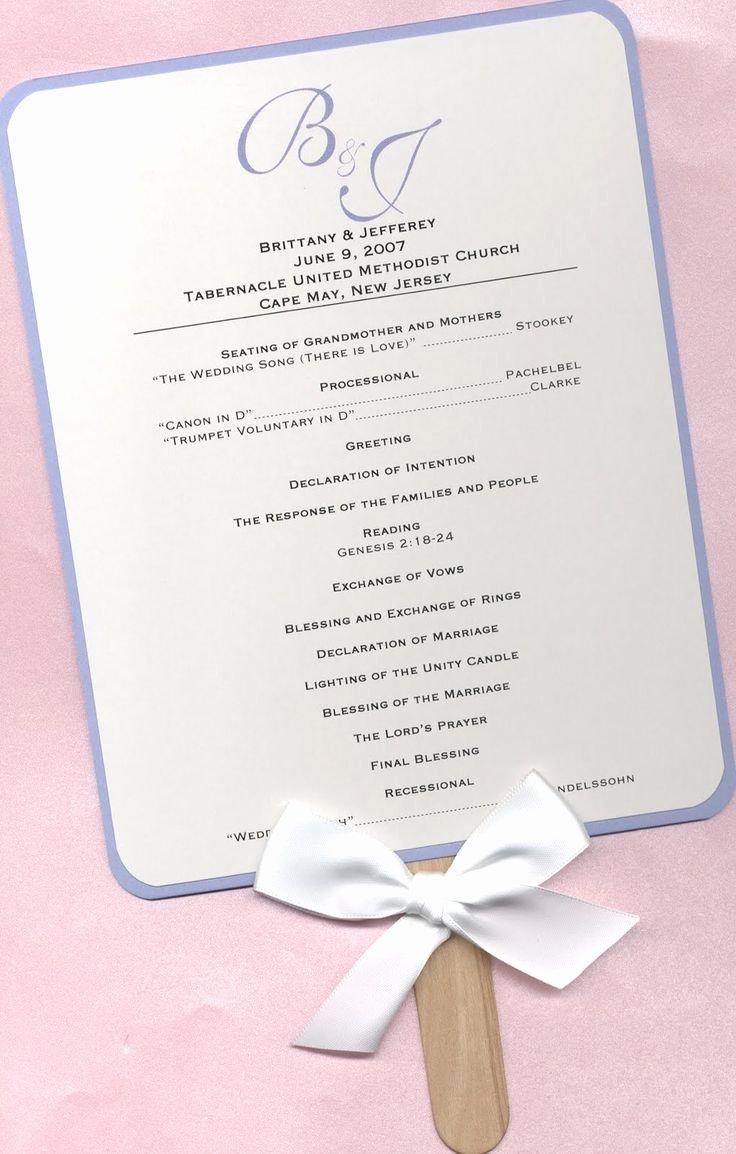 Wedding Program Fans Template Luxury Best 25 Wedding Program Templates Ideas On Pinterest
