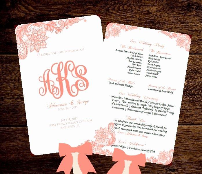 Wedding Program Fans Template Luxury Wedding Fan Program Printable Template by Pixelromance4ever