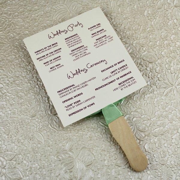 Wedding Program Fans Template Unique Wedding Program Paddle Fan Template – Matelasse Design