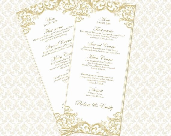 Wedding Reception Menu Template Awesome 1000 Ideas About Wedding Menu Template On Pinterest