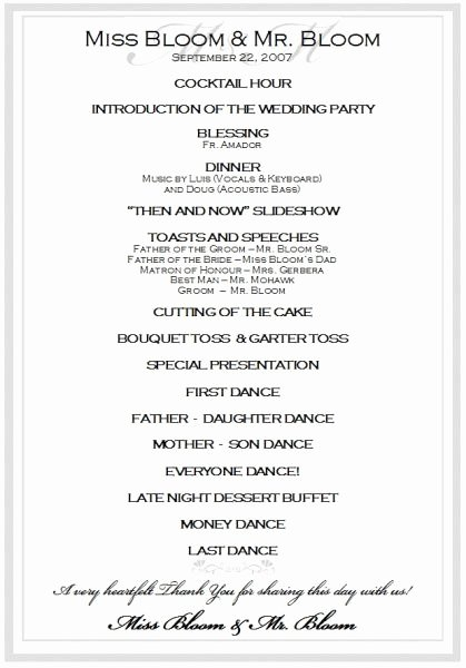 Wedding Reception Program Template Elegant Best 25 Wedding Reception Program Sample Ideas On