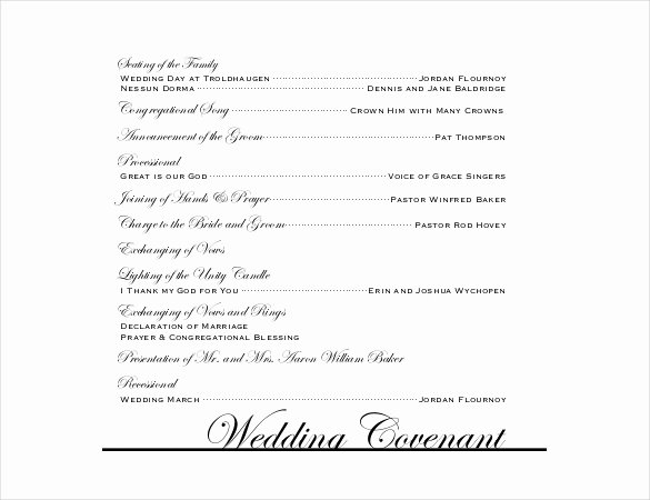 Wedding Reception Program Template Fresh Wedding Program Templates – 15 Free Word Pdf Psd