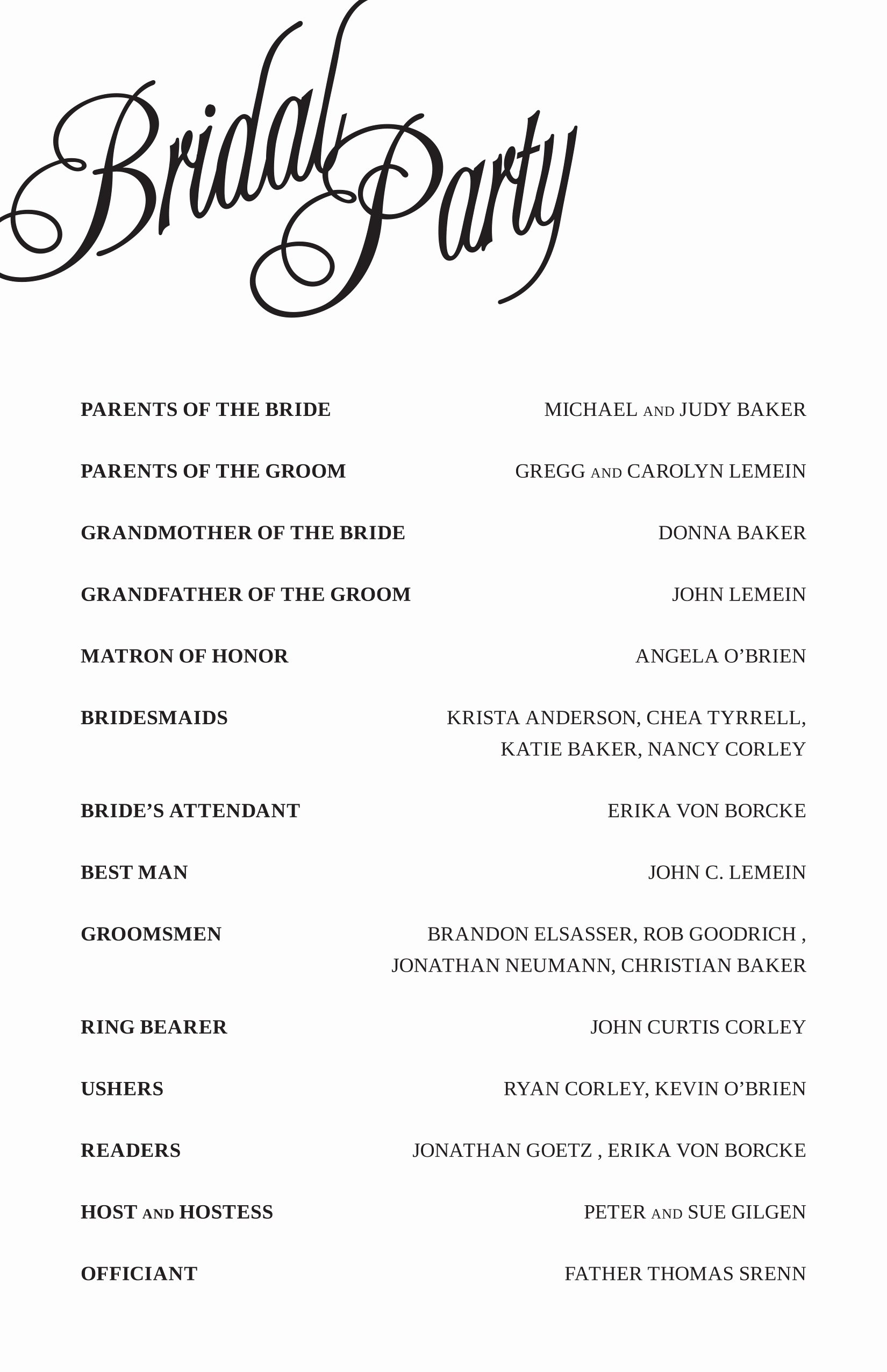 Wedding Reception Program Template Inspirational Elegant Free Printable Wedding Programs