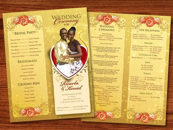 Wedding Reception Program Template Unique 30 Amazing Wedding Designs