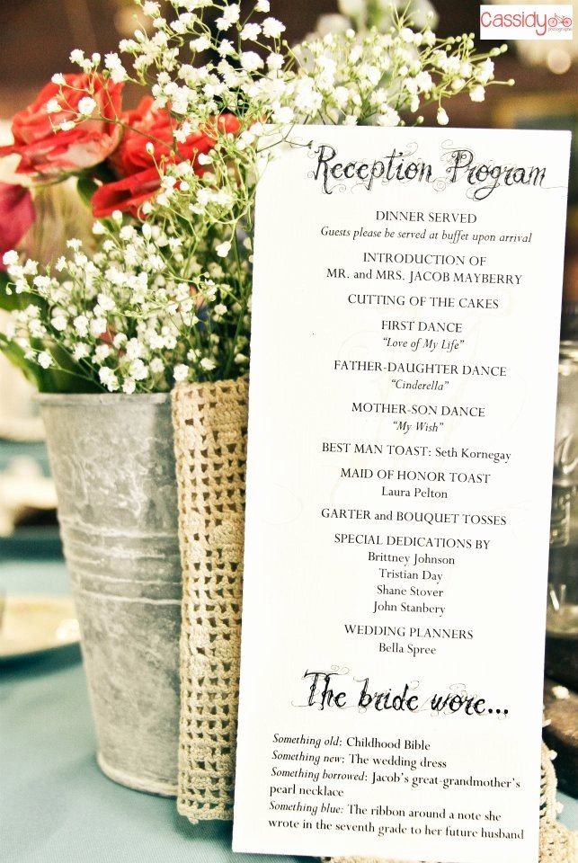 Wedding Reception Programme Template Beautiful Reception Program with Decorations
