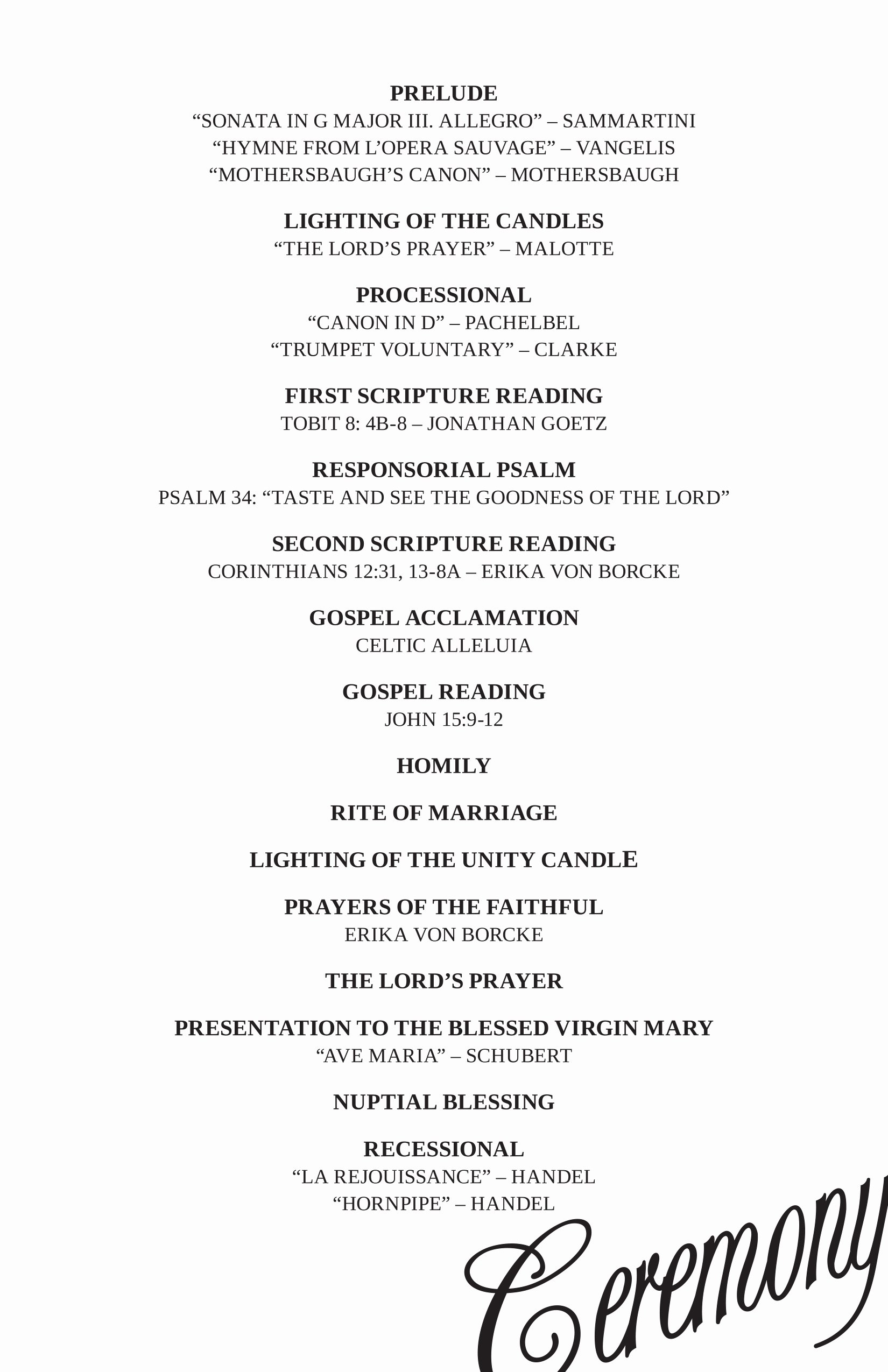 Wedding Reception Programme Template Lovely Wedding Reception Program Ideas Wedding Decor Ideas